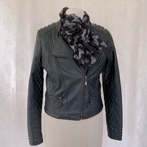 Therapy Vegan Faux Leather Moto Jacket